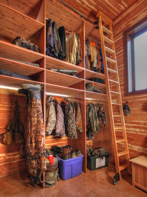 rustic closet design ideas  remodels   photos