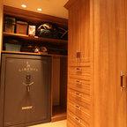 Master Closet with Walk in Safe - Contemporary - Closet ...