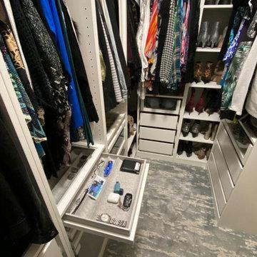 IKEA master closet built-ins