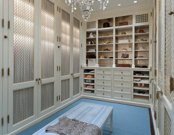 Interior Architecture of Miami Indian Creek Home – Her Closet