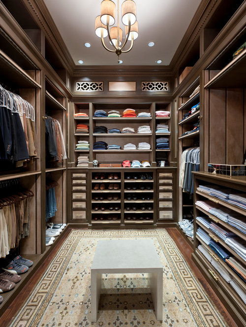 Inspiration For A Large Timeless Menu0027s Dark Wood Floor Walk In Closet  Remodel In Miami