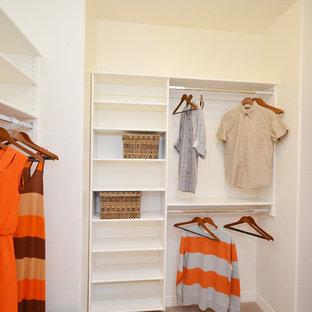 Imagen de armario vestidor unisex, moderno, de tamaño medio, con moqueta