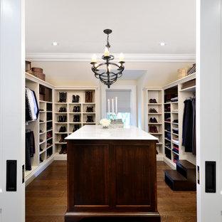 """Jane Lockhart Interior Design, Craftsman Style Walk-in Closet, """"Hers"""""""