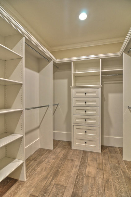 transitional closet by Spinnaker Development