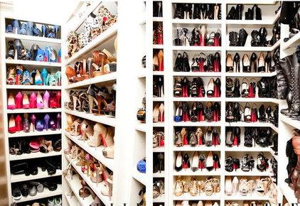 Contemporary Closet Khloe K's Shoe Closet