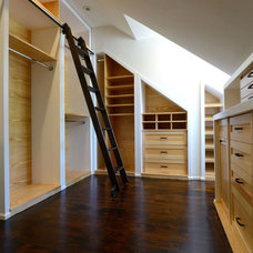 Contemporary Closet by PDT Woodworking & Cabinetry INC.