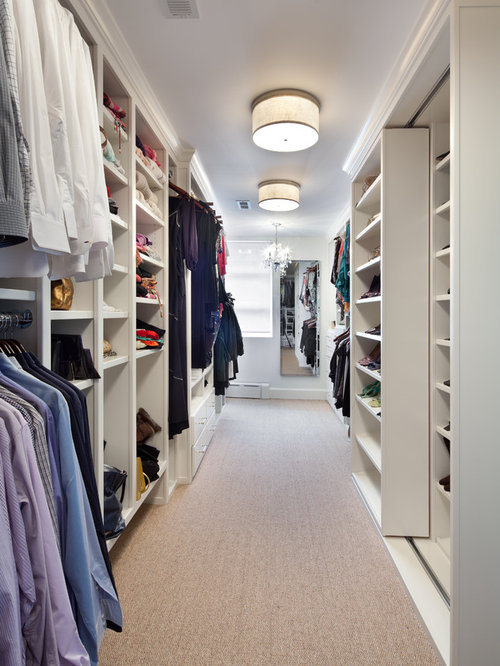 inspiration for a large carpeted walkin closet remodel in dc