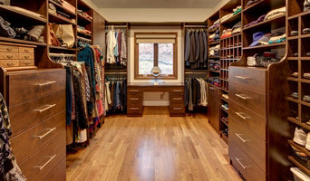 Large Custom  Walk-In Closet in Chocolate Pear Tree Finish