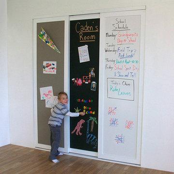 Learning & Display - Sliding Closet Doors