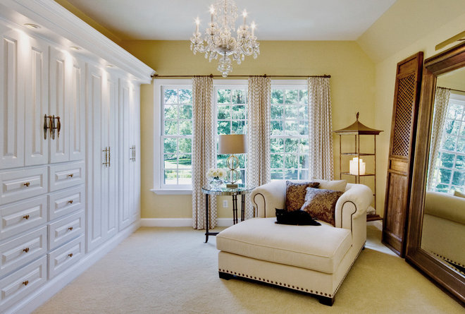 Contemporary Closet by Leslie Hayes Interiors