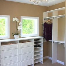 Transitional Closet by The Cabinet Shoppe