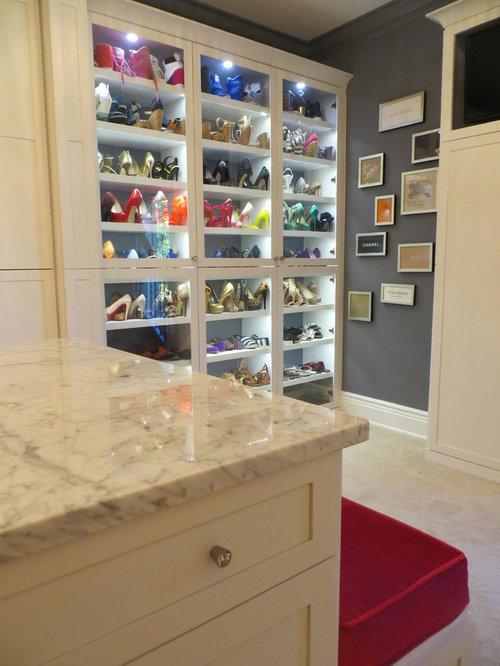 Lighted Shoe Shelves