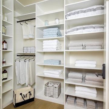 Linen Closet in a Palo Alto Home