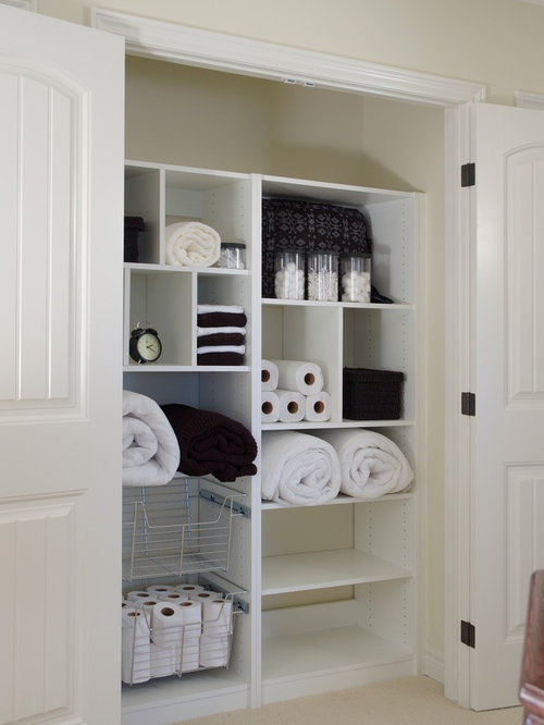 Linen Closet Organization Ideas, Pictures, Remodel and Decor