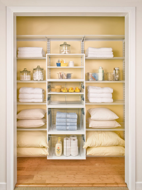 charming linen closet designs #1: Example of a classic closet design in Cincinnati