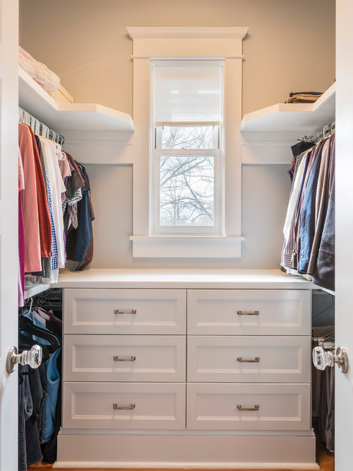 Elegant Closet Photo In Other With White Cabinets