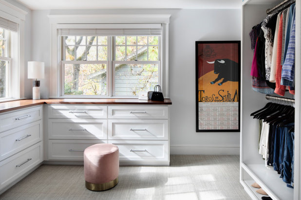 Transitional Closet by LDa Architecture & Interiors