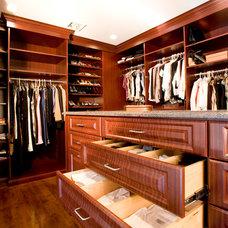 Traditional Closet by Custom Closets Direct