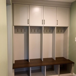 Example Of A Small Classic Closet Design In Chicago