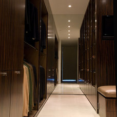 Contemporary Closet by Susan Newell Custom Home Builder, Inc.