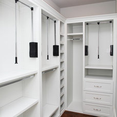 Transitional Closet by Keystone Millworks Inc