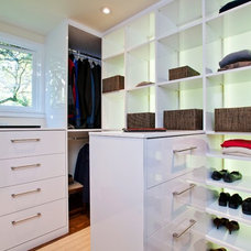Contemporary Closet by Prescott Design Studio, LLC