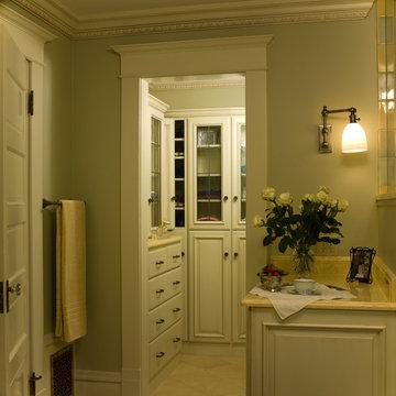 Master bath accesssory storage