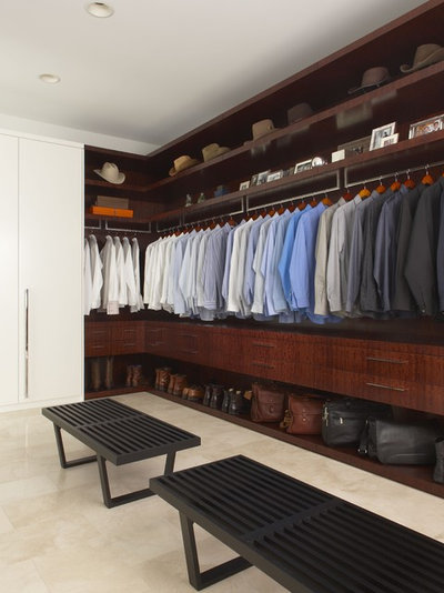 Contemporary Wardrobe by EuroCraft Interiors Custom Cabinetry