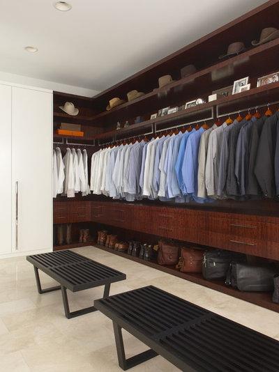 Contemporary Closet by EuroCraft Interiors Custom Cabinetry
