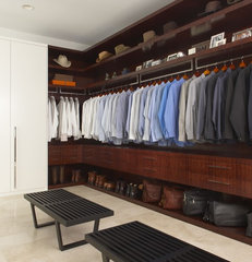 contemporary closet by EuroCraft Interiors Custom Cabinetry