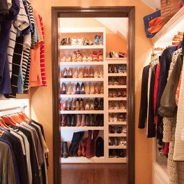 Master Closet leading to Shoe Shelving