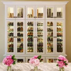 Traditional Closet by Leslie Dohr Interior Design LLC