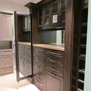 Master Closets with Pull Out Mirror
