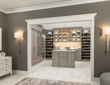 Master suite and closet