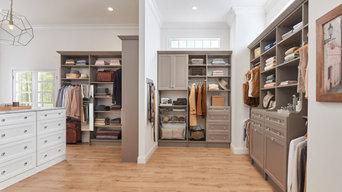 Master Suite Taupe Custom Closet