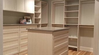 Master Walk In Closet with Island and Double Hutch