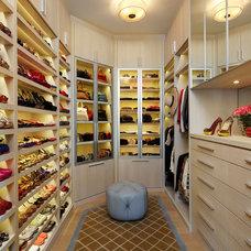 Contemporary Closet by St James Design LLC