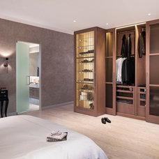 Contemporary Closet Millennium Tower Bedroom & Closet