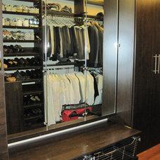 Contemporary Closet by Closet Factory - Boston