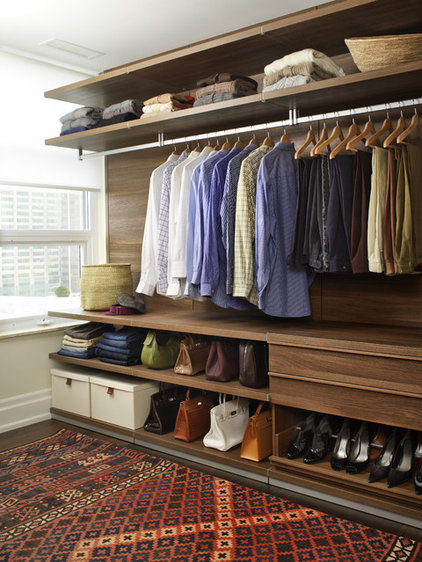 Contemporary Closet by Croma Design Inc