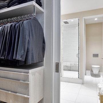 Modern Flatiron Loft Renovation - Walk-in Closet & Master Bath