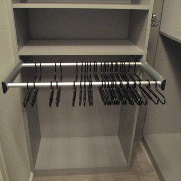 Modern Gray Walk-in Closet