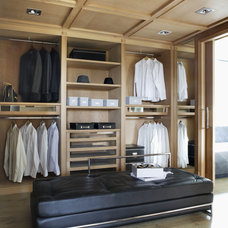 Contemporary Closet by Lignum Elite - wide plank flooring