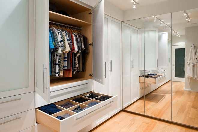 Contemporary Closet by Orion General Contractors