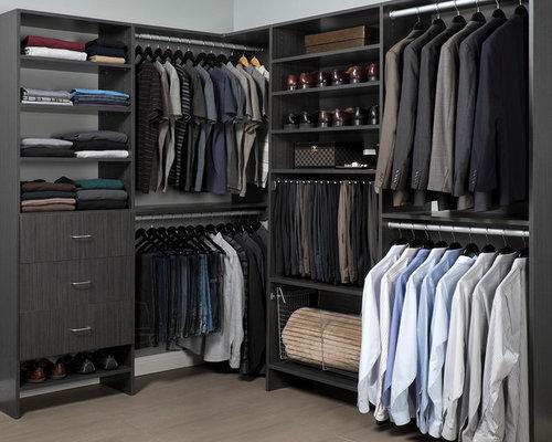 Armoires et dressings modernes pour un homme photos et id es d co d 39 armoires et dressings - Foto moderne dressing ...