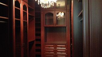 Mohogany Custom Closet