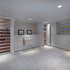 Contemporary Closet by Grand Woodworking