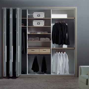 """More Space Place - Custom """"Revision"""" Closet with Sliding Glass Doors"""