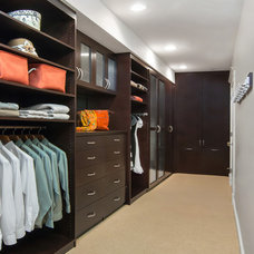 Contemporary Closet by Valet Custom Cabinets & Closets