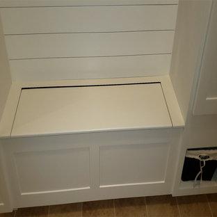 Mudroom Bult-in Closet, Storage Cubbies, Coat Hooks & Bench